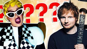 Cardi B and Ed Sheeran