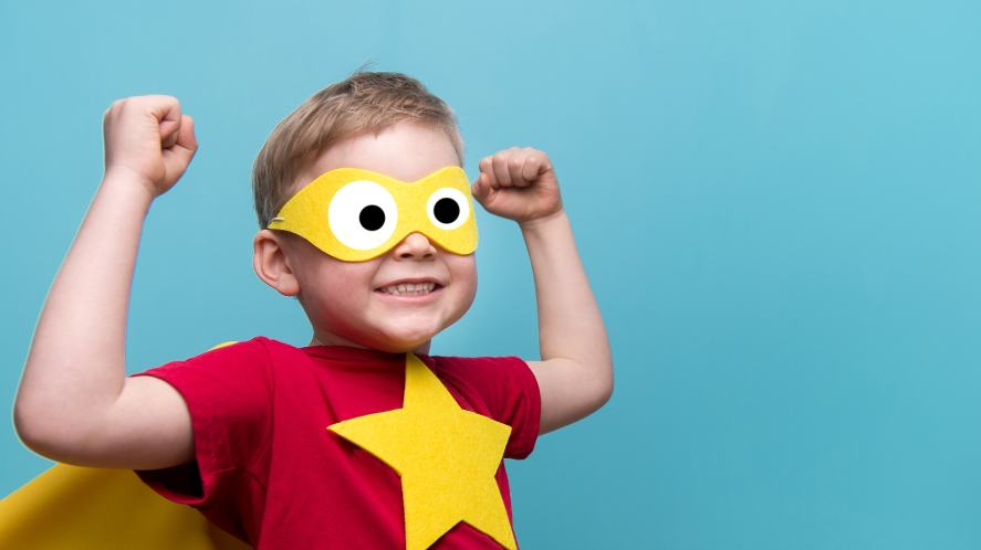 A mini superhero