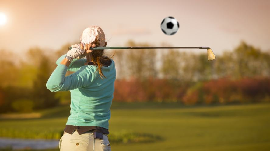 A game mixing golf and football