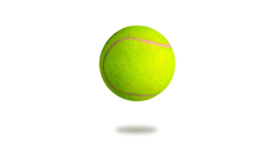 A bouncing tennis ball