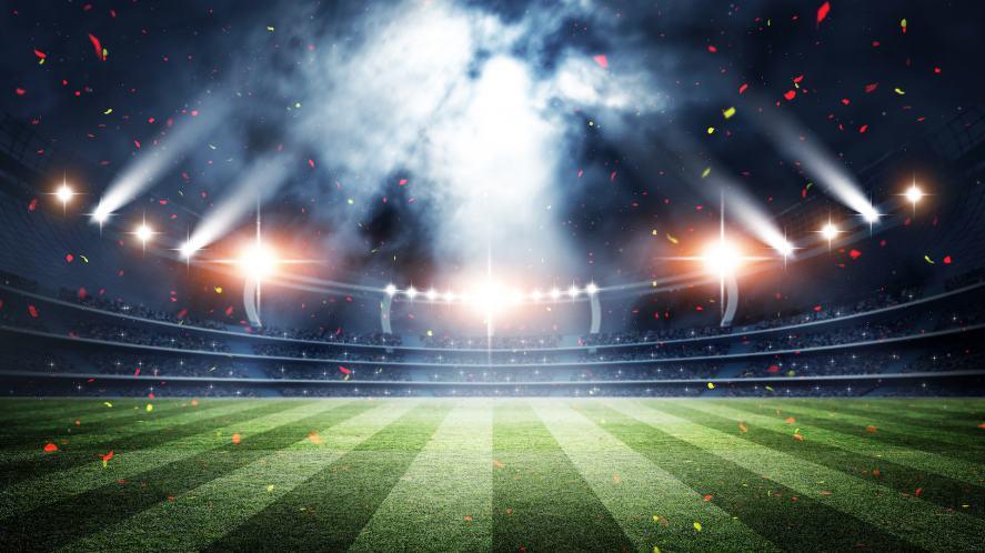 A massive football stadium