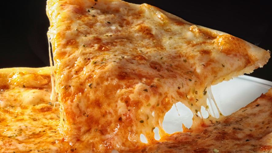 A very cheesy pizza