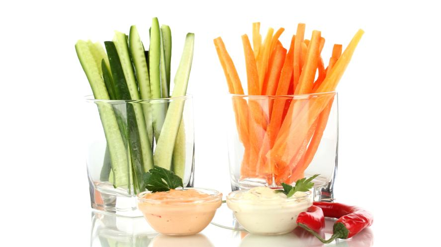 Cucumber and carrots
