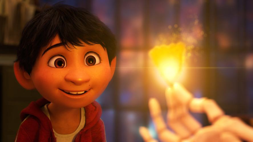 A scene from the Pixar movie, Coco