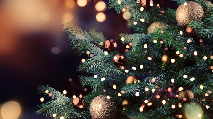 A twinkling Christmas tree