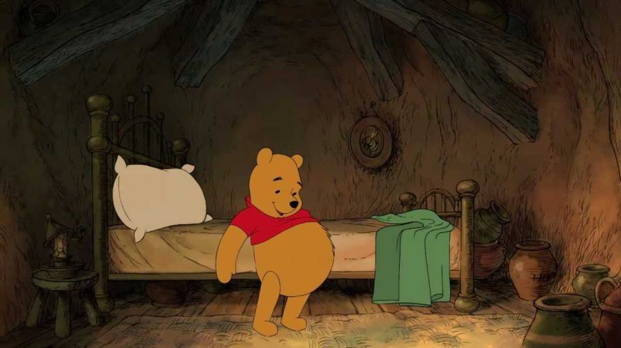 A scene from the 2011 Winnie the Pooh movie