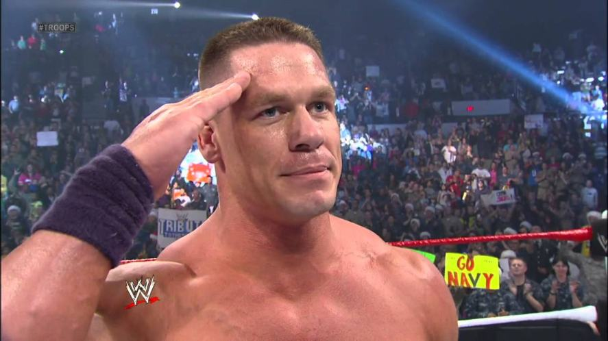 John Cena salutes the troops