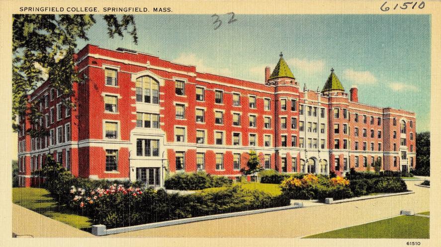 Historic postcard of Springfield College