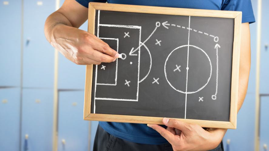 A football manager's tactics board