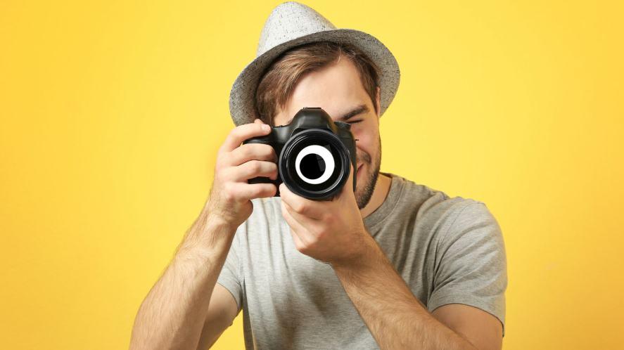 A man taking a photographer