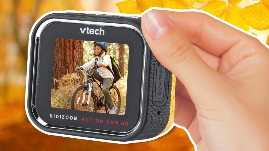 A close of the VTech action cam