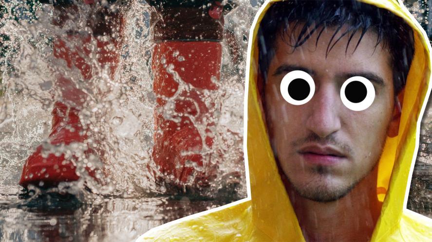 A wet man