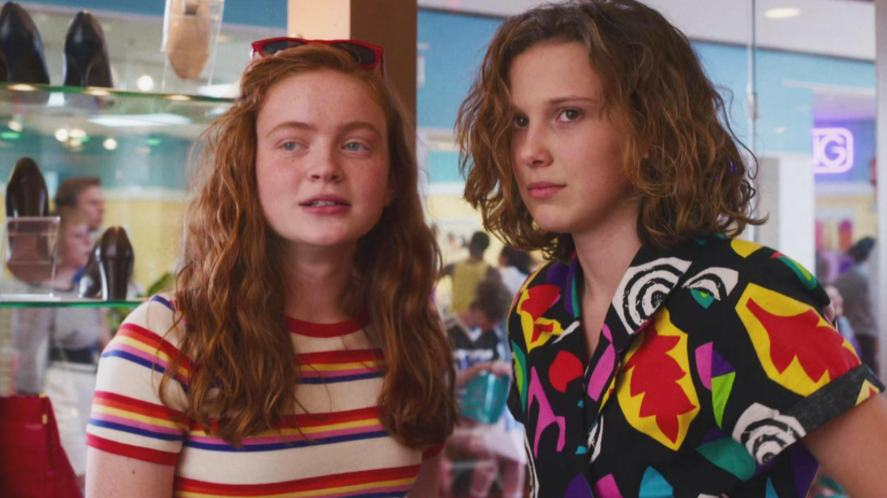 Max and Eleven at the Starcourt Mall
