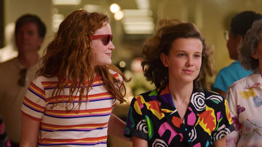 Max and Eleven just hanging out at the mall