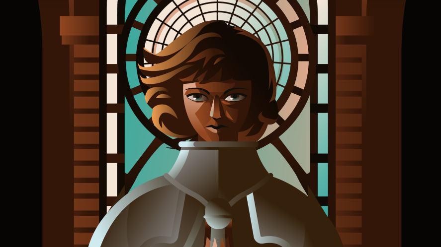 An illustration of Joan of Arc
