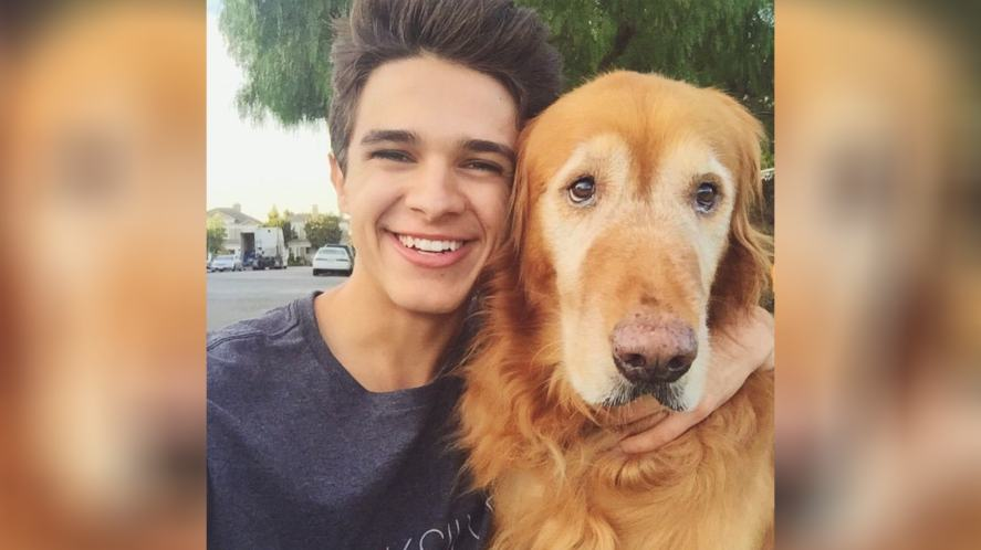 Brent with his dog