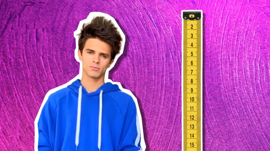 Brent Rivera and a tape measure