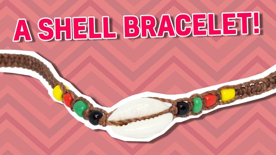 A shell bracelet
