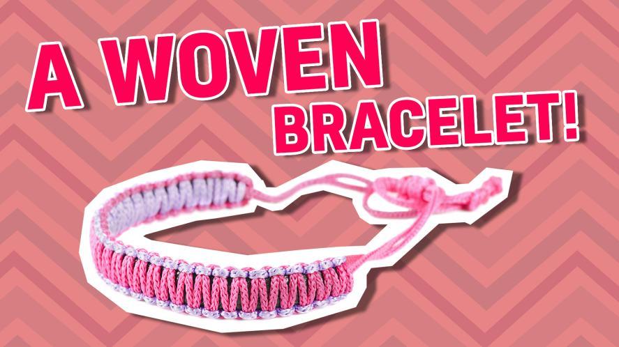 A woven bracelet