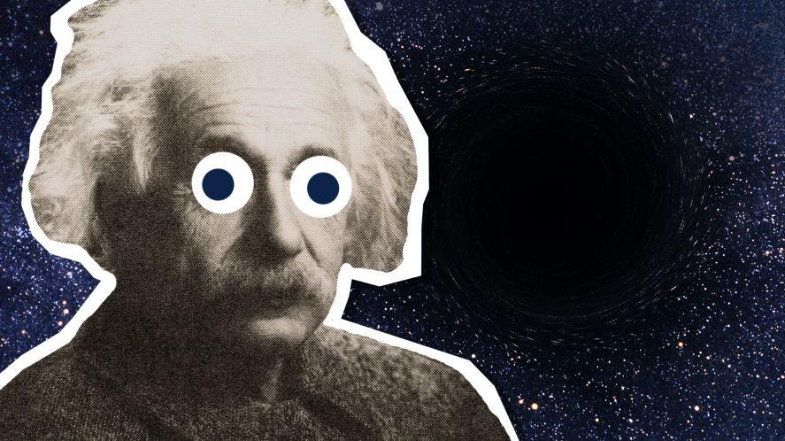 Albert Einstein and a black hole