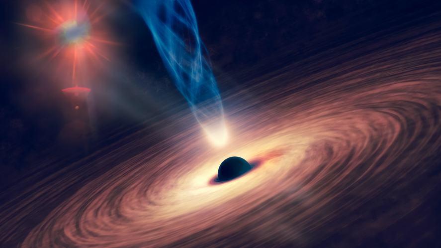 Black hole with nebula