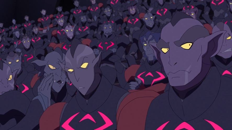 A crowd of Galrans in Voltron: Legendary Defender