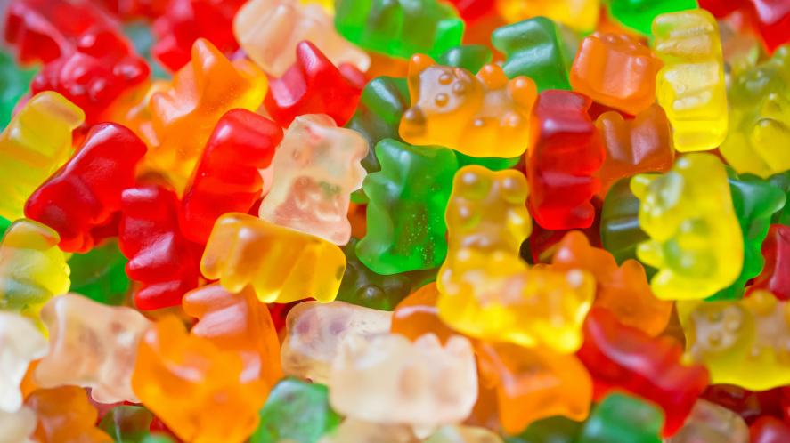 A pile of gummy bears