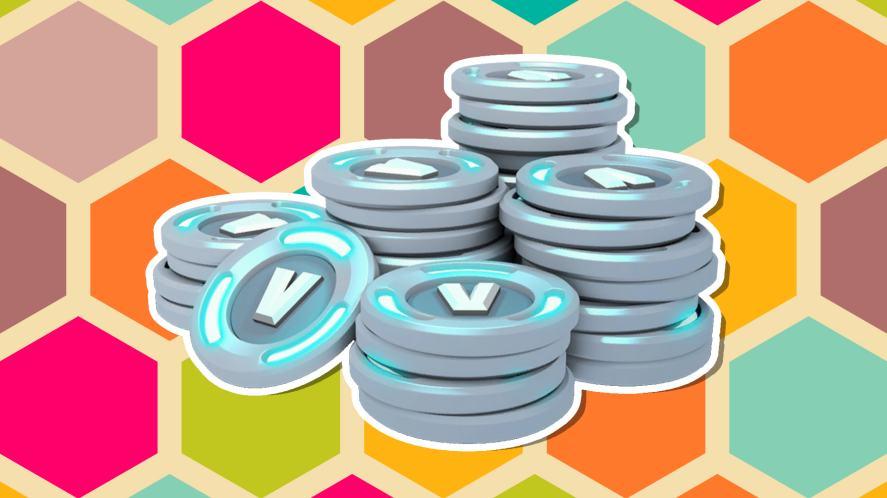 A pile of V-Bucks
