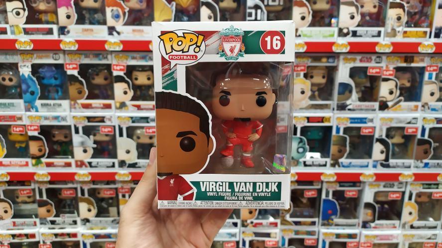 A Funko POP! figure of Liverpool player Virgil Van Dijk