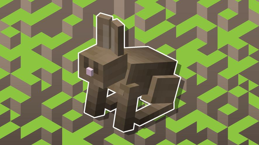 A Minecraft bunny