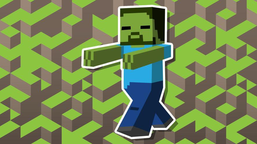 A Minecraft zombie