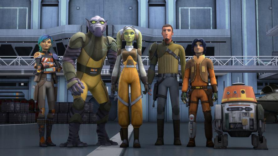 The Star Wars Rebels Ghost crew