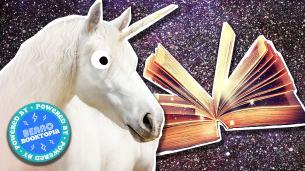 Unicorn and fantasy book
