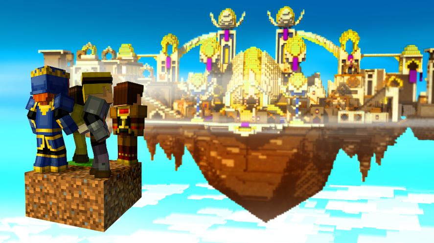 A scene from Minecraft: Story Mode episode, Order Up!