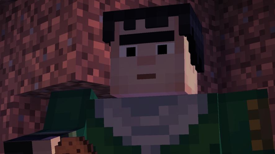 Axel in Minecraft: Story Mode