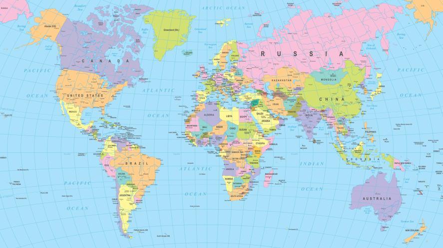 A world map