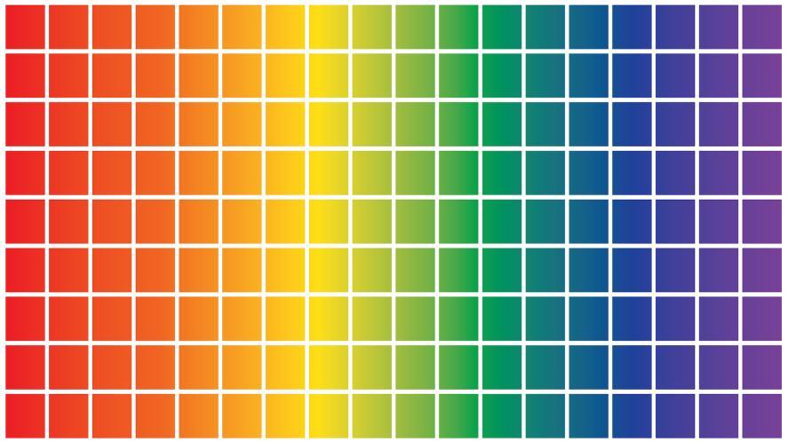 A colour chart