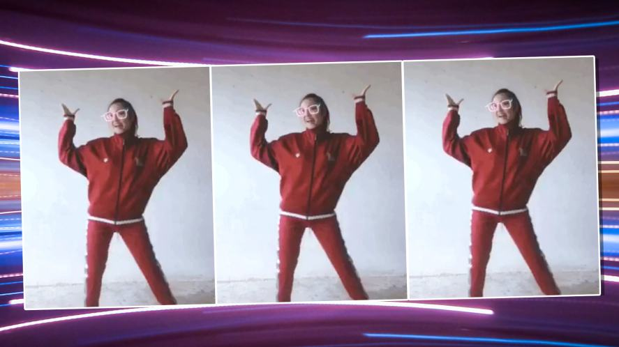 A girl dancing to DJ Noisestorm's viral track