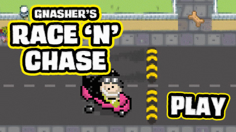 Play Gnasher's Race 'N' Chase