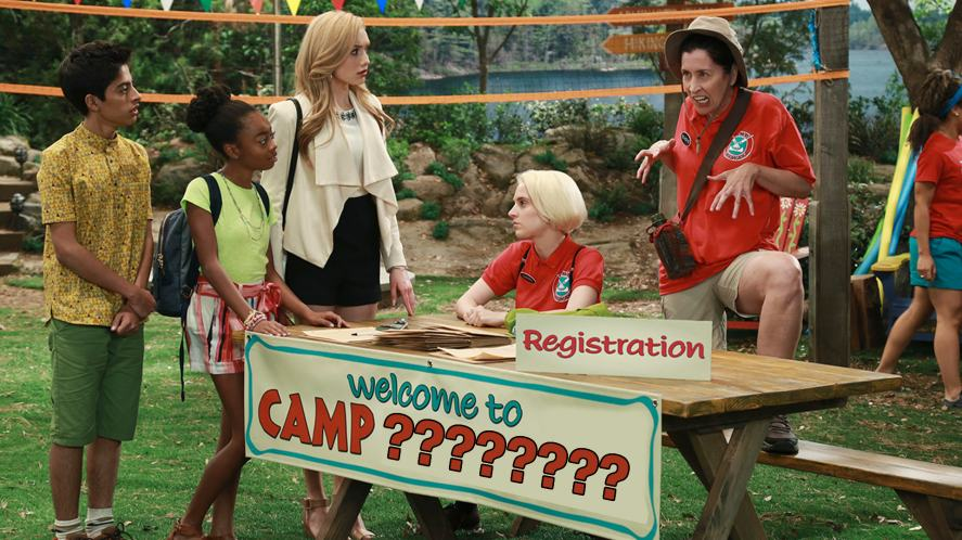 A scene from the Disney show, Bunk'd
