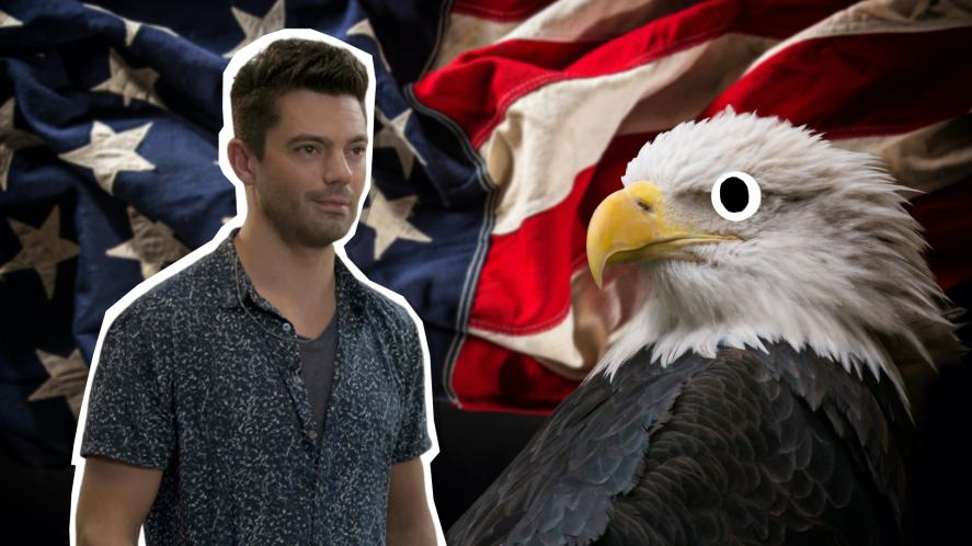 Sky and an American eagle