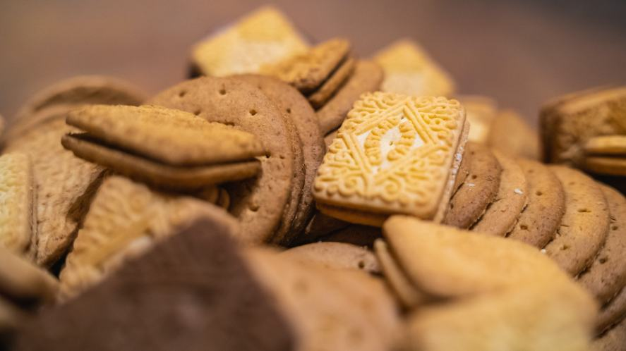 A pile of delicious biscuits