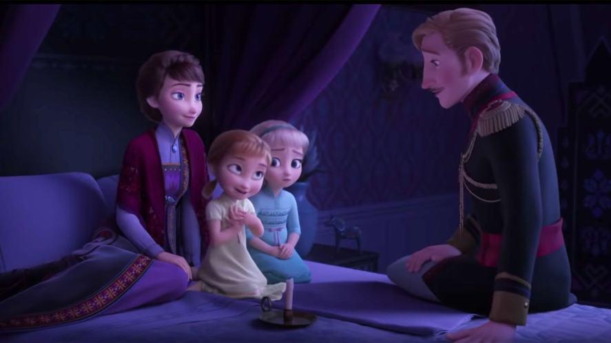 A scene from Frozen 2