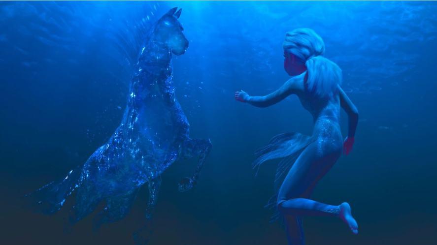 The Nokk and Elsa in Frozen 2