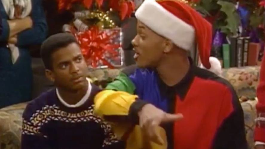 Will and Carlton in a festive episode of The Fresh Prince of Bel-Air