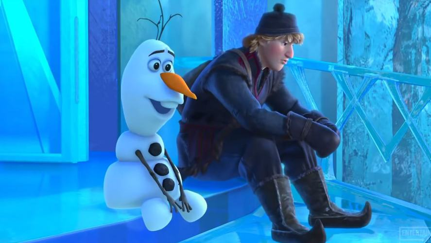 Kristof and Olaf sitting