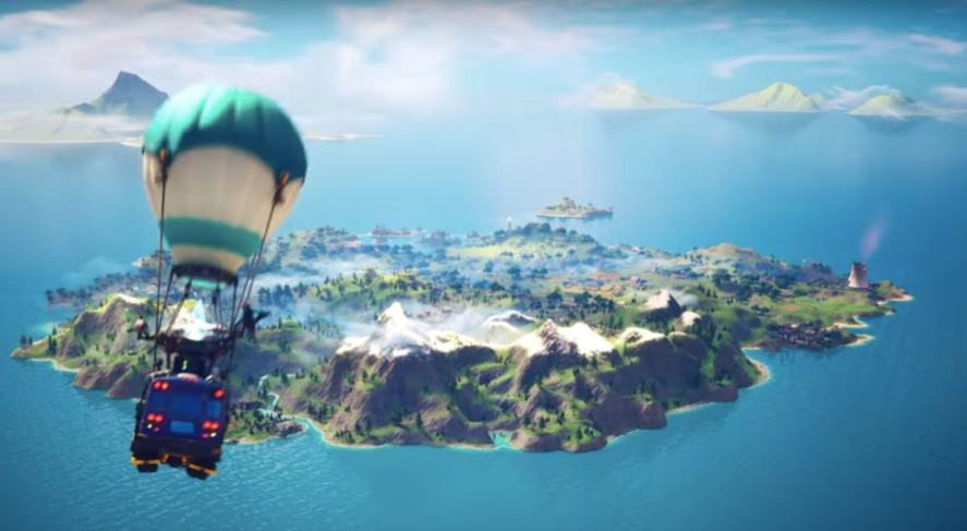 An overview of the Fortnite island