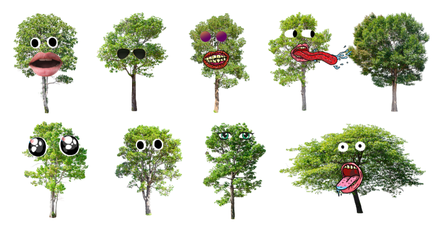 Trees with faces. Haha