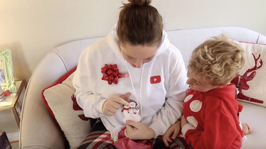 The Ballinger Family unwrap Christmas presents