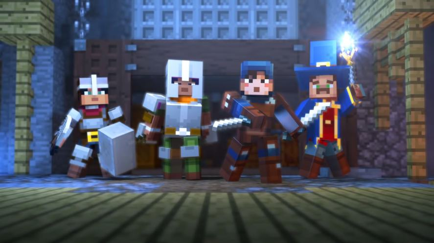 A screenshot of the new Minecraft spinoff game